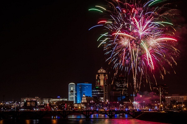 Des Moines New Years Eve
