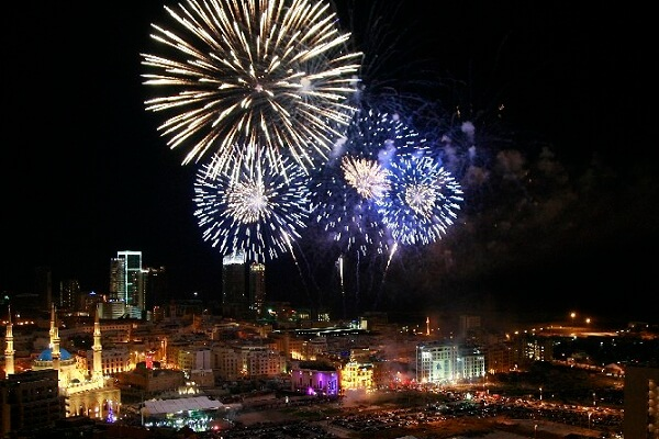 Beirut New Years Eve Fireworks
