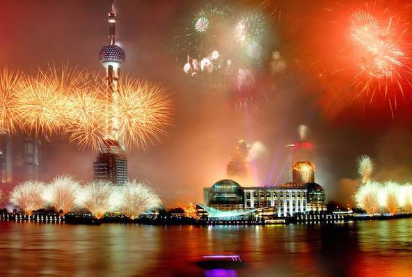 Shanghai New Years Eve Fireworks