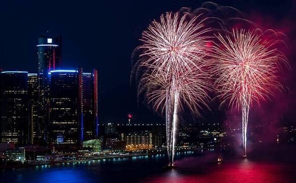 Detroit New Years Eve 2019 Fireowrks