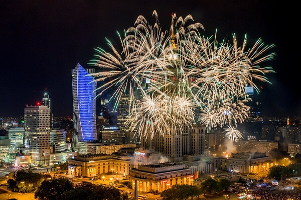 Warsaw New Years Eve Fireworks